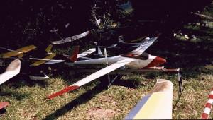 1999 - Modell mit selbstgebauter Startrampe. Idee und gebaut von Herrn Helmut