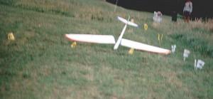 2000 - Auch solche Ziellandungen kommen vor. Dieses Foto wurde anlässlich des Ziellandebewerbes am 9.7.2000 gemacht. (Pilot unbekannt)