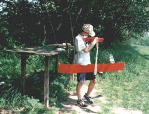 2000 - Flugzeugkontrolle vor dem Einsatz.