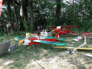 Flugtag 2000: Ausstellungsmodelle bzw. Schauflugmodelle