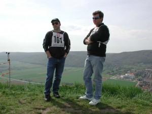 2001 - Donaupokal - 2.Tag Die Piloten Arthur und Franz des MFK-Breitenfurt.
