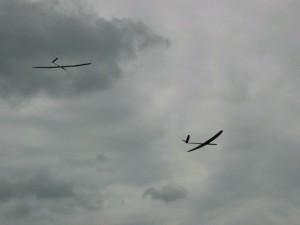 2001 - Marchfeldpokal - Zwei Modelle beim Streckenflug