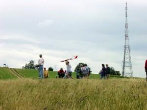2001 - MFK-Klubbewerb F3F-Hangfliegen am 8.7.2001. Start eines Modells.