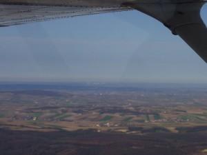 2002 - 1.Virtueller F3F-Wettbewerb > Aus 500m Höhe kann man das Kernkraftwerk Temelin erkennen.