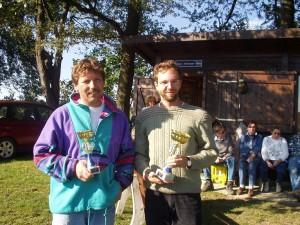 2002 - 3.MFK Bewerb zum Klubcup > Zeitfliegen - Die Ersten. Robert Piss (2.) und Harald Michl (1.).