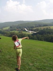 2002 - Schülerwettbewerb. Raphaela beim Starten