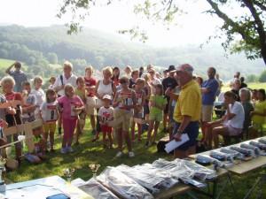2002 - Schülerwettbewerb. Die Siegerehrung beginnt.