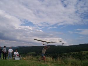 2002 - Ziellandewettbewerb des MFK-Breitenfurt. Modellstart
