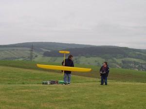 2002 - Landewettbewerb in Sieghartskirchen - Patrick Startvorbereitung mit Ellipse