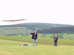2002 - Landewettbewerb in Sieghartskirchen - Patrick startet sein Modell