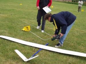 2002 - Landewettbewerb in Sieghartskirchen - Vermessung nach der Landung
