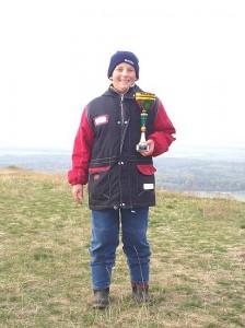 2003 - LM-NÖ am Braunsberg. Der lachende Sieger der Jugendklasse - Patrick.