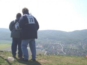 """2003 - Donaupokal - """"Wenn der Vater mit dem Sohne"""" Patrick und Robert."""
