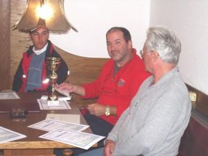 2004 - F3F Donaupokal 2004 > Der MFK-Breitenfurt Tisch bei der Siegerehrung