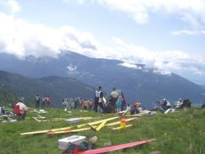 2004 - F3F-Wettbewerb auf der Wöllaner Nock. Startplatz