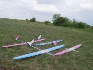 """2004 - Die ersten vier neuen """"Skorpions"""" am Spitzerberg."""