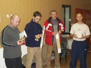 2005 - Siegerehrung Virtueller Bewerb F3F in Hlohovec > Die Sieger.