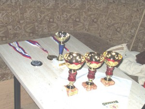 2005 - F3F Virtueller Bewerb in Záhorská Ves. Die Pokale warten.