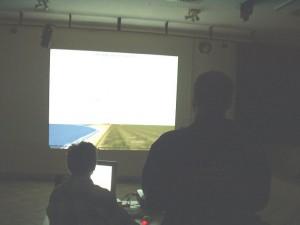 2005 - F3F Virtueller Bewerb in Záhorská Ves. Arthur im Rennen.