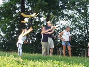 2005 - Vierter Bastelabend (Einfliegen) mit den SchülerInnen 2005.