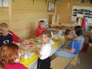 2005 - Erster Bastelabend mit den SchülerInnen 2005.