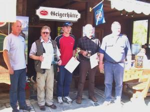 2005 - F3F Wöllaner Nock > Die Sieger:  G. Steiner, J. Pölzl, F. Prasch. v.l.n.r.