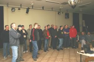 2005 - Virtueller F3F-Wettbewerb am 19.3.2005 in Záhorská Ves. Pilotenbesprechung.