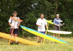 2006.07.09 - Die Sieger des Ziellandens: Patrick P., Robert P. und Walter W. v.l.n.r.