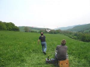 2006.05.07 - Windenstart durch Robert P. (Winde) und Arthur F. (Starter).