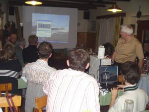 2007.12.01 - Jahresabschlussfeier - Vorbereitung zum Fotoansehen