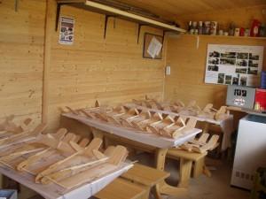 """2007.07.25 - 3. Tag beim Basteln mit den Schülern. Modelle fertig zum """"Einwiegen"""""""