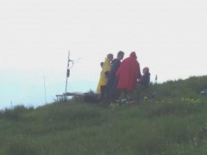 2007.06.09 - Donovaly Sorgenfalten bei dem Veranstalter. Ein Gewitter zieht auf.