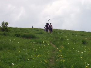 2007.06.09 - Donovaly Aufstieg vom Lift zum Startplatz in ca. 1350m.