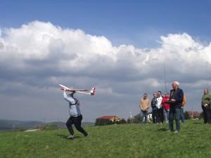 1. Klubcup F3F - Handstart bei Windstärke 20m/sec.
