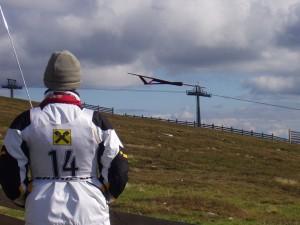 Staatsmeisterschaft F3F am Stuhleck - Horizontüberwachung der Starthöhe für Landung !!