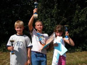 Schauflugtag 2009 - Die strahlenden Sieger!   Gratulation