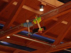6.3.2010 Hallenfliegen in Breitenfurt - Hängen da Fledermäuse?