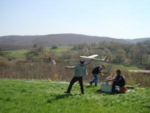 17.4.2010 Zeitfliegen - Start einer Maschine mit der Winde