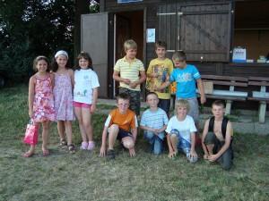 14.7.2010 1. Tag Basteln mit den Schülern - Die Teilnehmer am ersten Tag