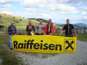 29.8.2010 F3F Staatsmeisterschaft auf der Sommeralm - v.l.n.r. Hans E., Franz P., Stefan H., Kurt P. u. Thomas R.