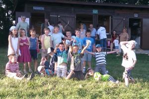 13.7.2011 1. Fliegerbasteln mit den Schülern - Ende des 1. Tages