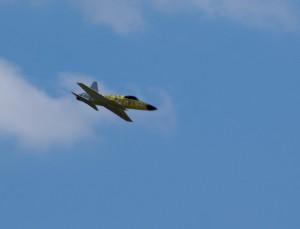 """15.8.2011 50 Jahre MFK-B - Flugshow - """"Saab Draken"""" mit E-Impeller"""