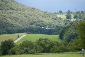 15.8.2011 50 Jahre MFK-B - Flugshow - Discus 2c im Landeanflug