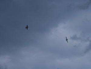 15.8.2011 50 Jahre MFK-B - Flugshow - Modelle im aufkommenden Gewittersturm