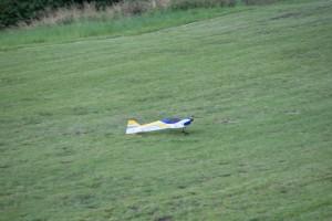15.8.2011 50 Jahre MFK-B - Flugshow - Der letzte Starter vorm Gewitter