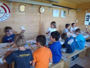 Zweiter Basteltag mit den Schülern
